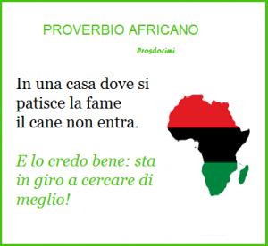 proverbio africano - fame usato per 26 ottobre
