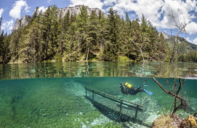 Tragoess (Austria) - Il parco sommerso dalle acque