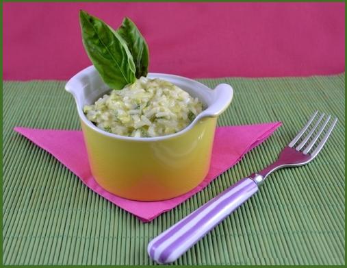 risotto con zucchine e formaggio