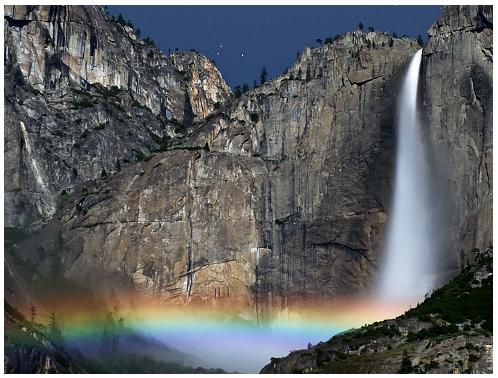 Cascate bellissime Yosemite