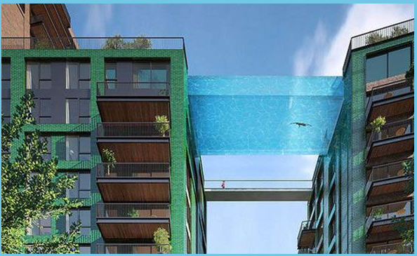 piscina sospesa a Londra