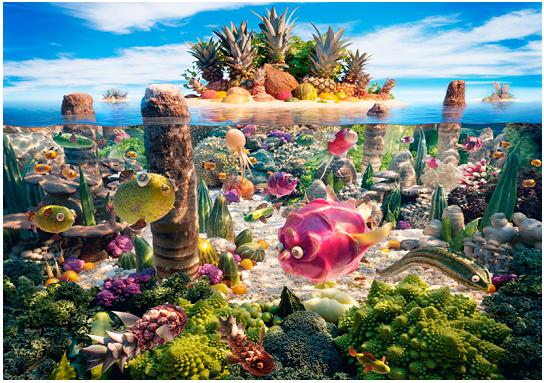 Paesaggi di cibo, Carl Warner