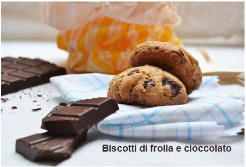 biscotti di frolla e cioccolato