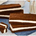 Fette al latte: golose merendine al cacao farcite con crema