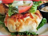 pizza burger vegetariana