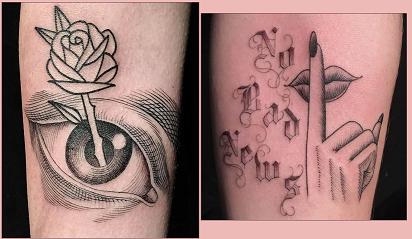 Tatuaggi gratis al buio