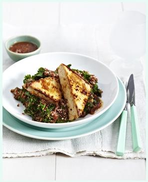 menu autunnale insalata tofu e quinoa