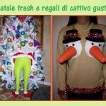 Decorazioni natalizie strane e improbabili, regali kitsch e trash