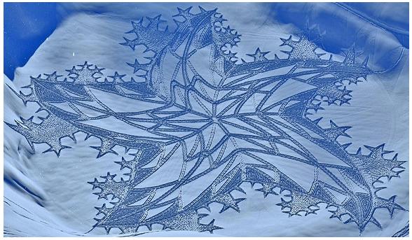 Simon Beck e i disegni geometrici sulla neve
