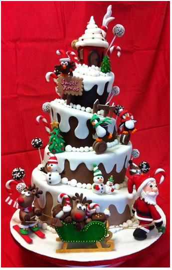 Christmas cake le torte di natale pi scenografiche e - Decorazioni torte natalizie ...