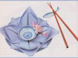 tovagliolo fiore di loto