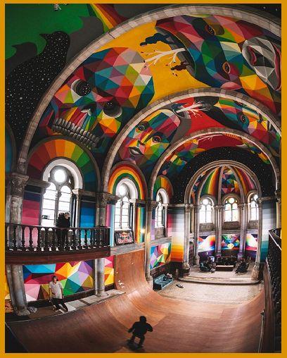 Chiesa sconsacrata diventa skatepark