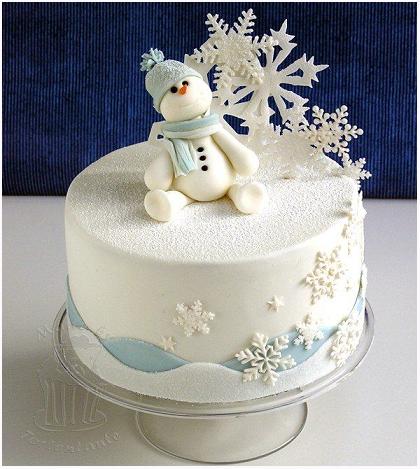 Christmas Cake: Simpaticissimo Pupazzo di neve