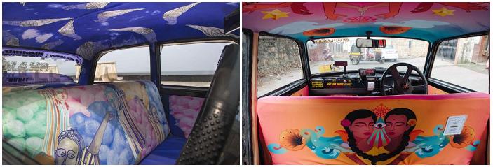 taxi multicolor di Mumbai