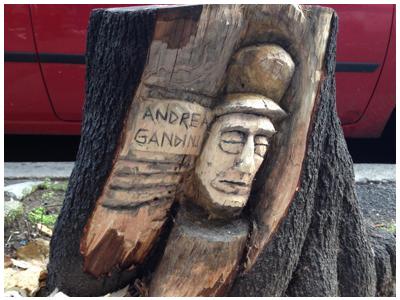 i tronchi prendono vita a Roma