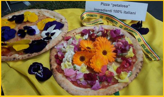 Calendula e viole: ecco la pizza petalosa al 100% italiana