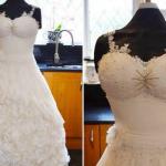 Incredibile opera di cake design: un abito da sposa che è anche una torta