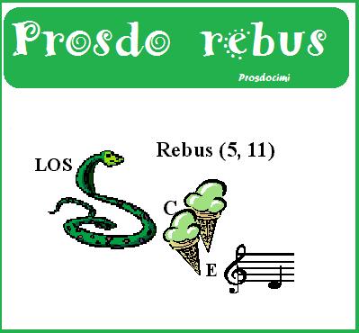 REBUS - giochi humor estate con Prosdocimi