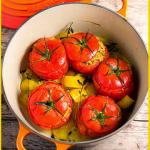 Miglio pomodori ripieni ed erbe aromatiche