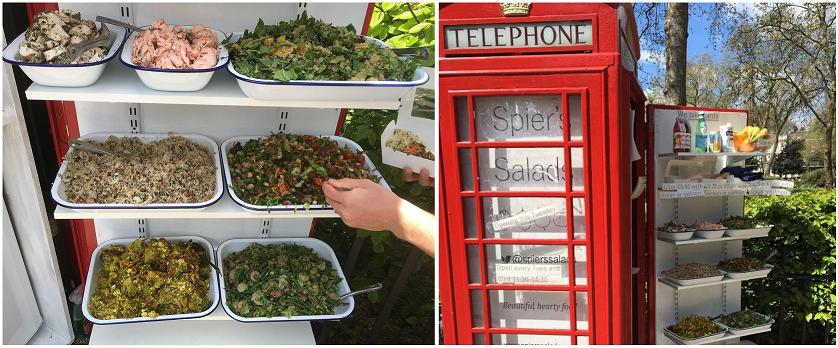 La cabina telefonica diventa negozio di insalata