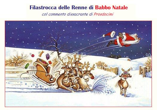 Filastrocca delle Renne di Babbo Natale – dissacrante siparietto natalizio