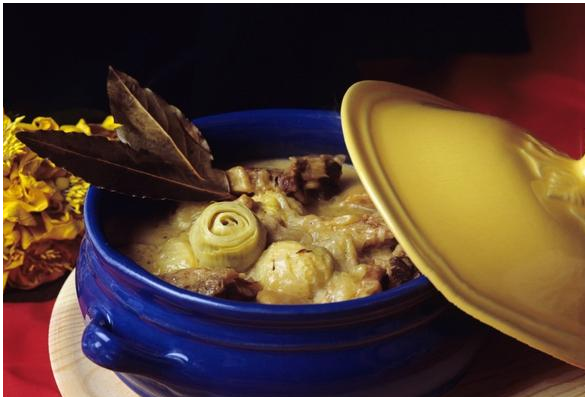 Ricetta della zuppa di patate e carciofi