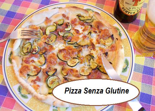 Pizza no glutin con zucchine stracchino e salsiccia