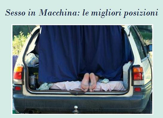 Sesso in Macchina: quali sono le posizioni migliori?