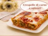 Crespelle di carne e spinaci, ricco e corposo primo piatto tradizionale
