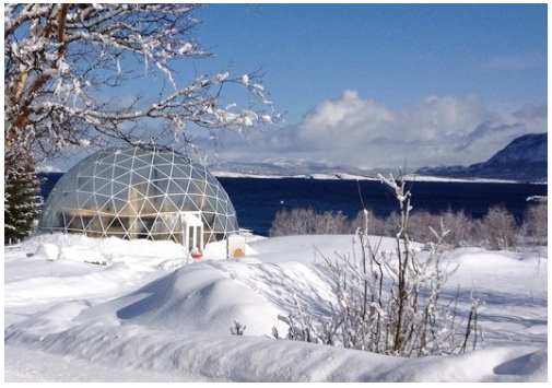 Casa ecologica al circolo polare artico: biotecnologia e architettura in Norvegia