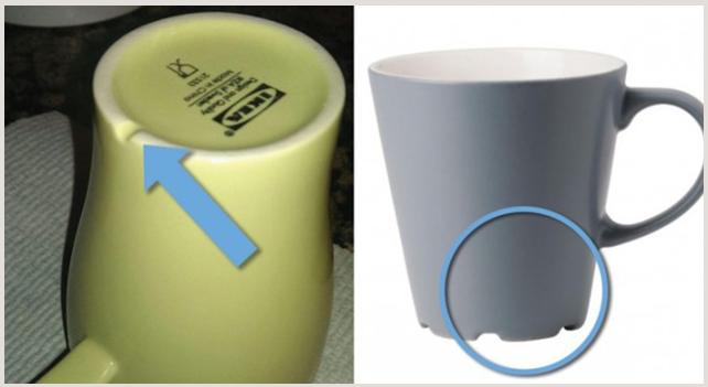 Sai perché le tazze Ikea hanno il solco sul fondo?