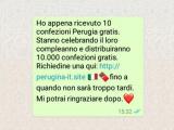 Truffa WhatsApp, una falsa promozione che ha coinvolto la Perugina