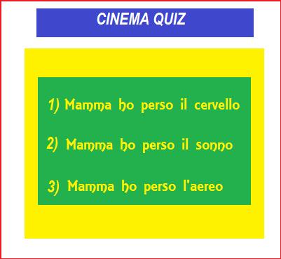 Cinema Quiz di Natale - Indovina il titolo del film