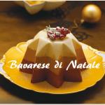Bavarese natalizia, facile torta con panna e cioccolato