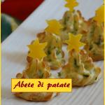 Abete di patate, sfiziosissimo antipasto a forma di albero di Natale
