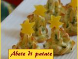 Abete di patate, gustoso piatto con rucola e formaggio ideale per abbellire la tavola di Natale e deliziare i bambini