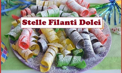 Stelle filanti dolci, allegre e coloratissime per un pazzo Carnevale