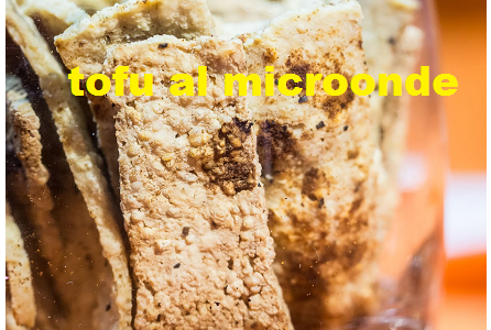 Tofu al microonde, vegan e Gluten Free, alternativo alle classiche chips di patate