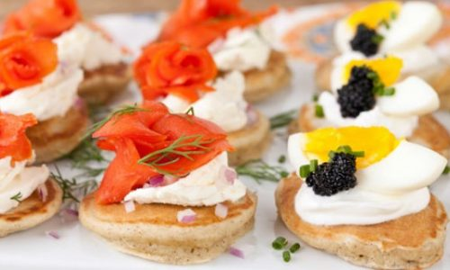 Blinis, morbide e deliziose crespelle salate