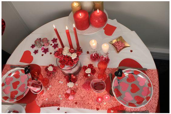 Decorazioni di san valentino per una romantica cenetta col partner - Decorazioni di san valentino ...