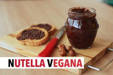 Nutella vegana fatta in casa, gustosissima crema alle nocciole senza lattosio