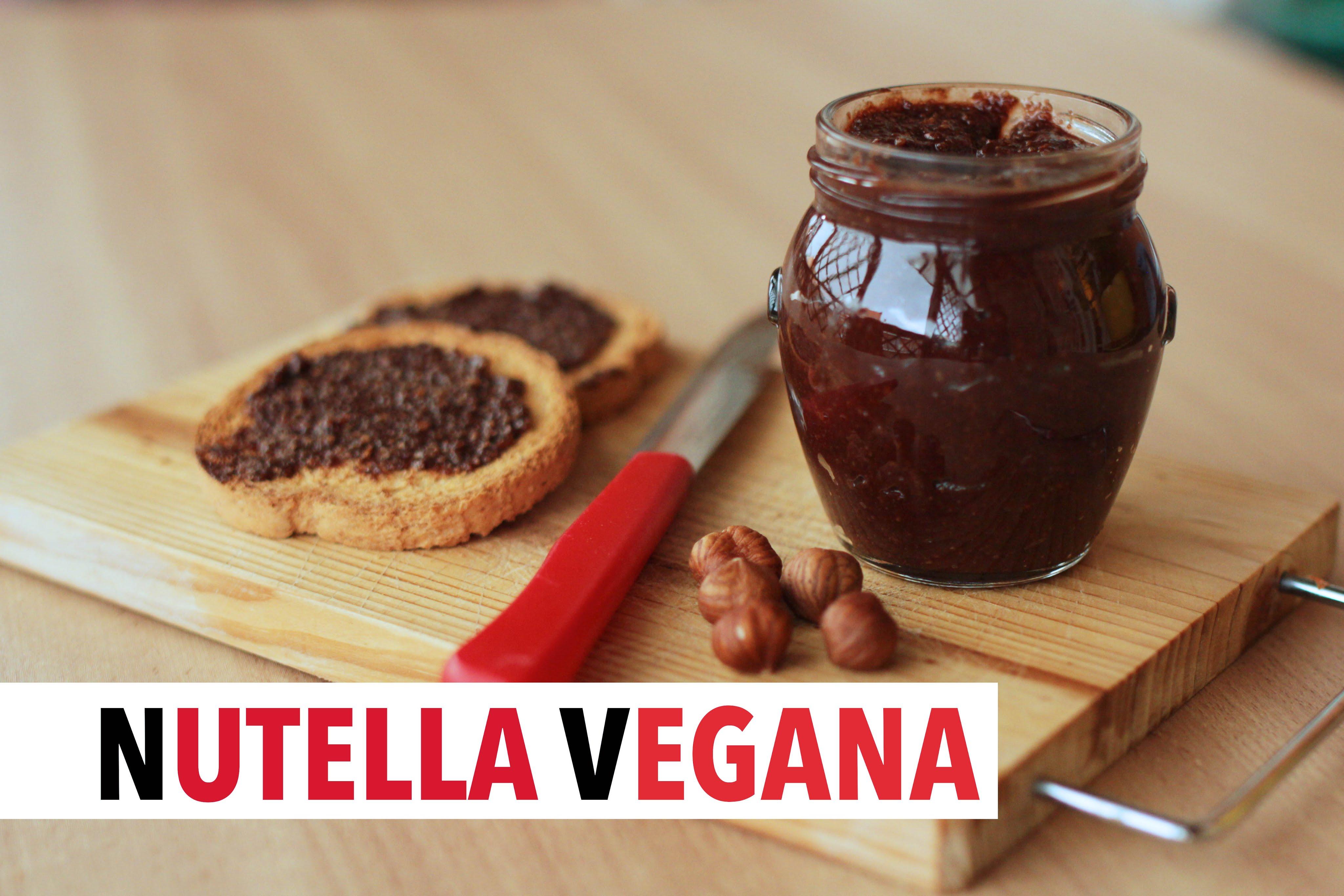 Bagno Nella Nutella.Nutella Vegana Fatta In Casa Con Nocciole E Senza Lattosio