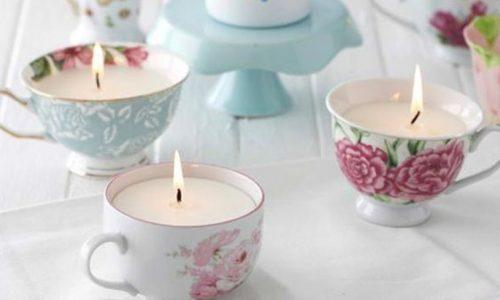 Candela in tazza fai da te: per decorare e profumare la tua casa