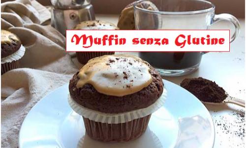 Muffin senza glutine al caffè e cioccolato, ricetta facile per celiaci