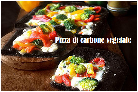 Pizza di carbone vegetale: facile e ricca di proprietà