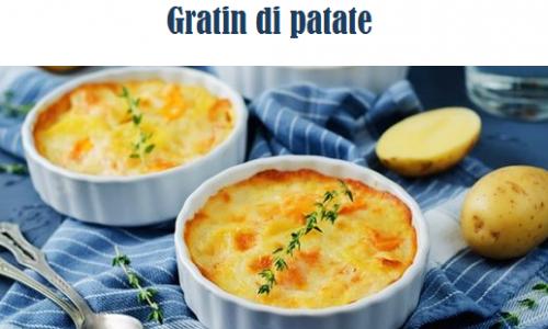 Gratin di patate, contorno semplice e veloce
