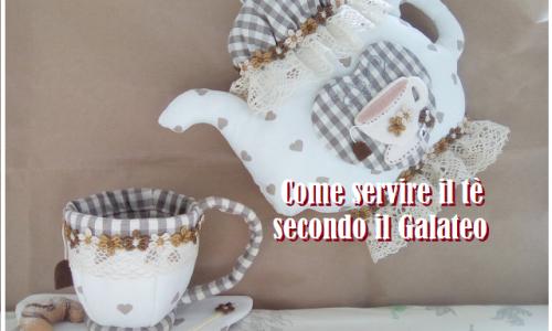 Come servire il tè in casa secondo le norme del bon ton