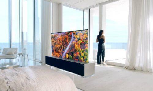 Ecco il televisore che si arrotola e scompare