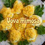 Uova mimosa, facile antipasto da servire freddo