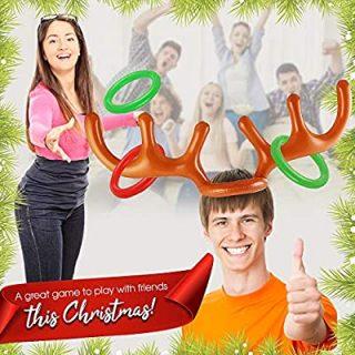 Gioco di Natale con corna di renna